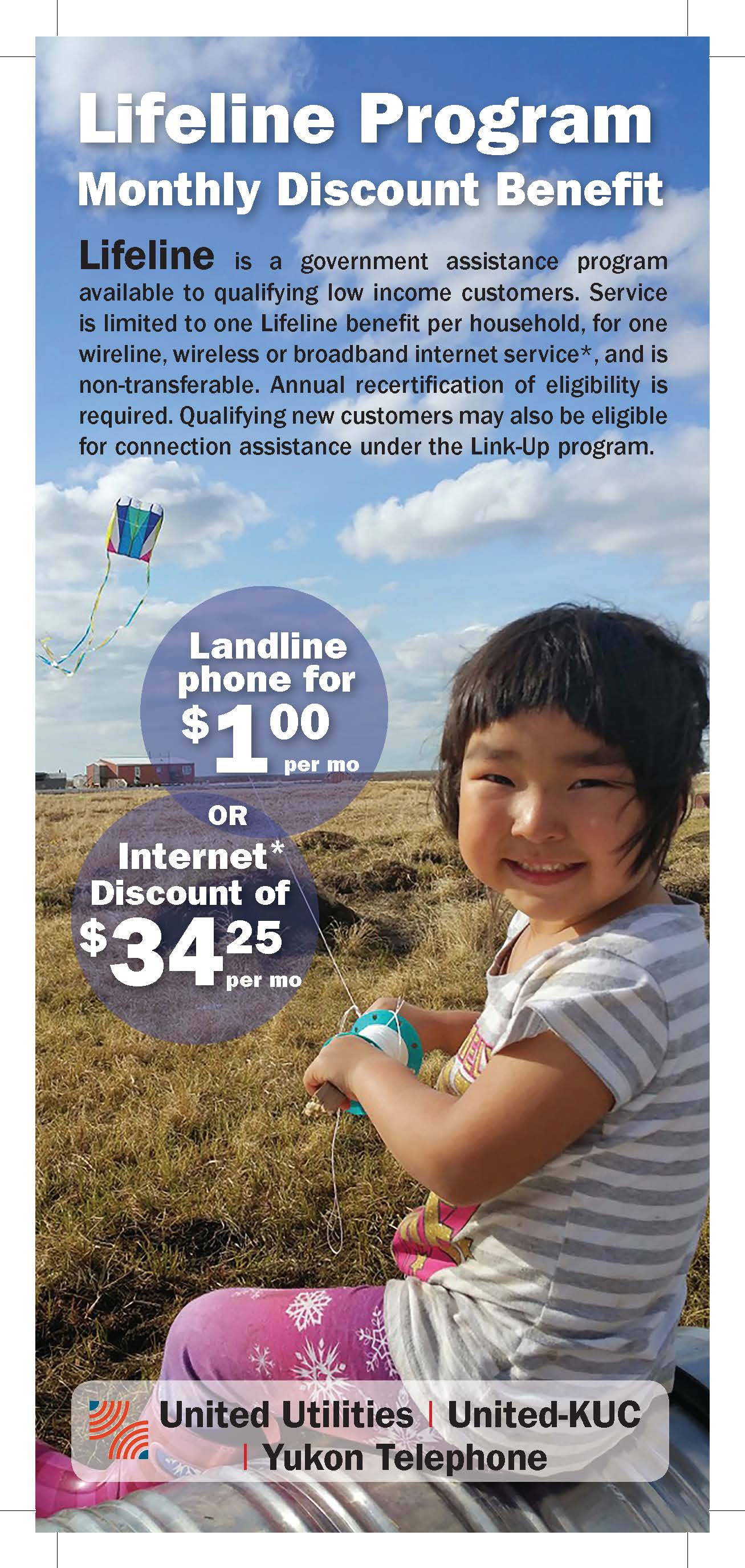 What are the benefits of the federal Lifeline assistance program?